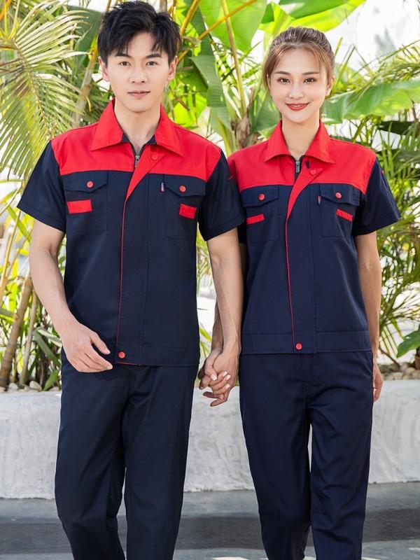 红蓝色工作服