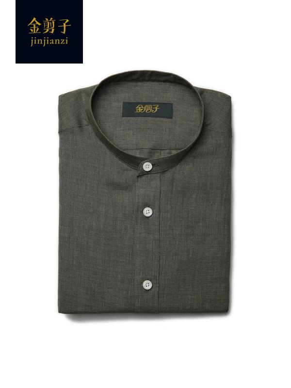 男士圆领休闲衬衫