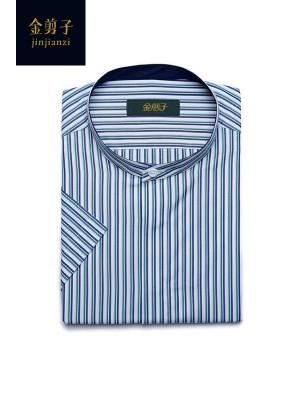 男士圆领商务休闲衬衫