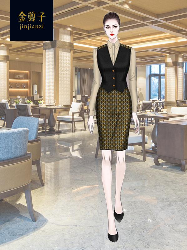 酒店中式餐厅工作服