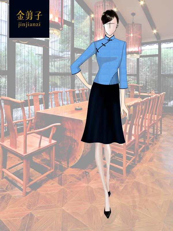 酒店中餐厅服务员工作服