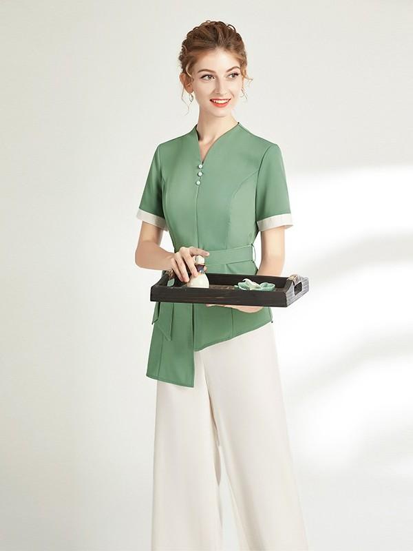中式美容师工作服