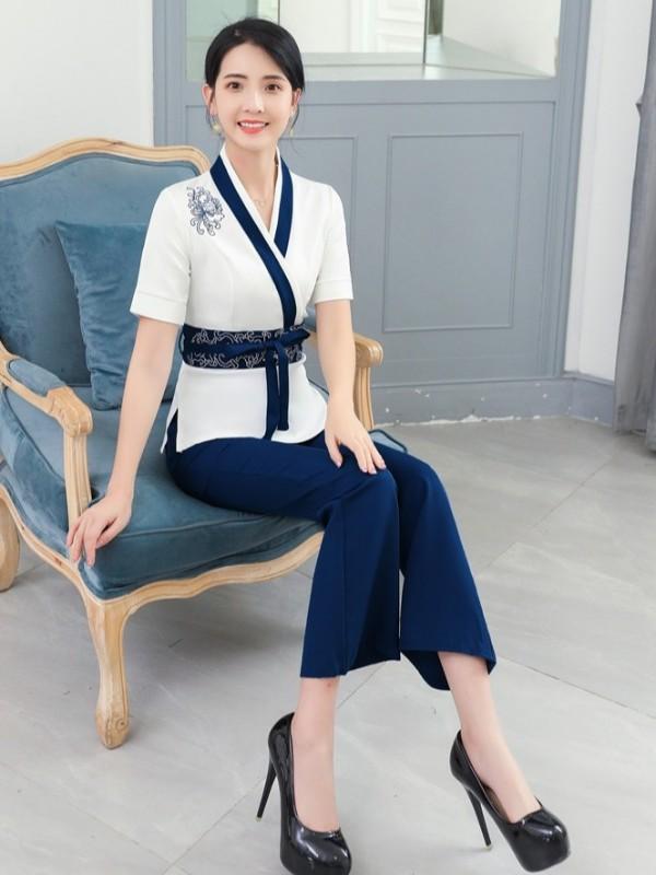 中式美容师服装