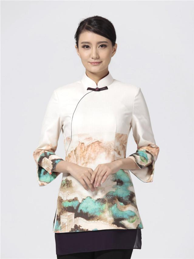 中式餐厅服装定制,中餐厅工服定制
