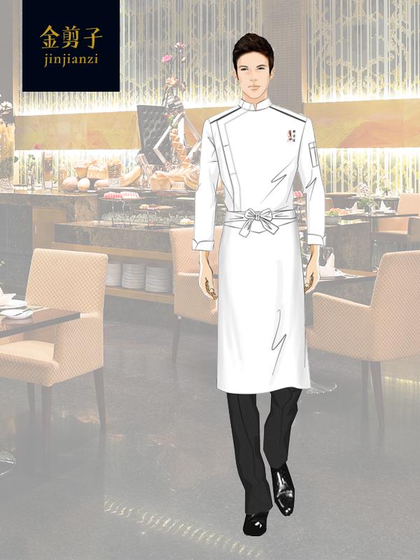 酒店餐厅厨师工作服