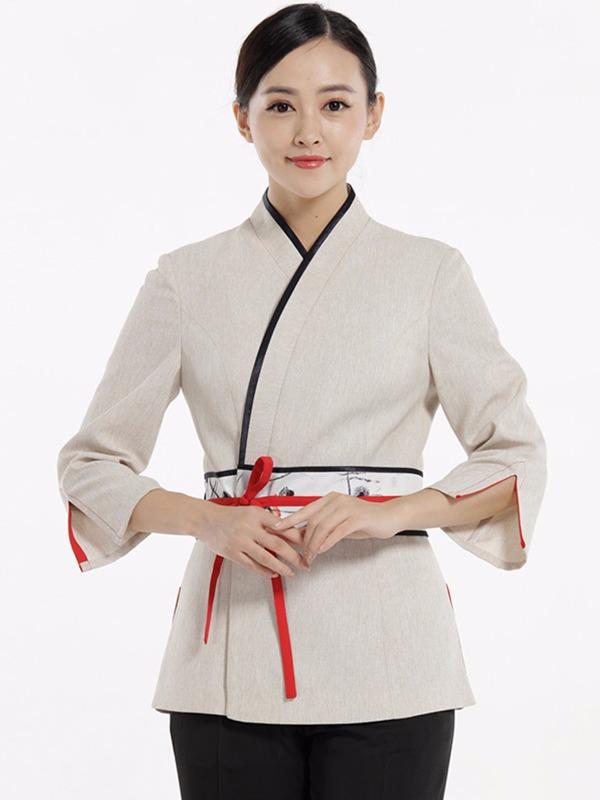 日式餐厅服装定制,料理店工服定制