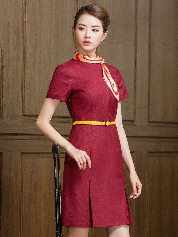 海航空姐制服连衣裙