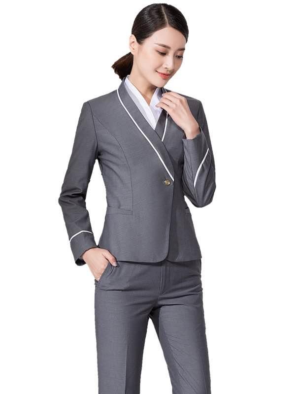灰色空姐制服