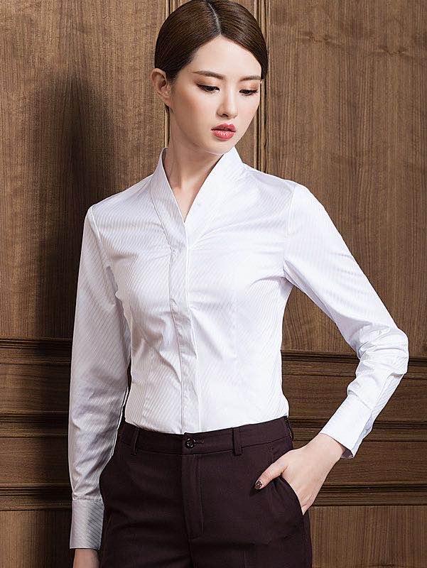 空姐制服白衬衫