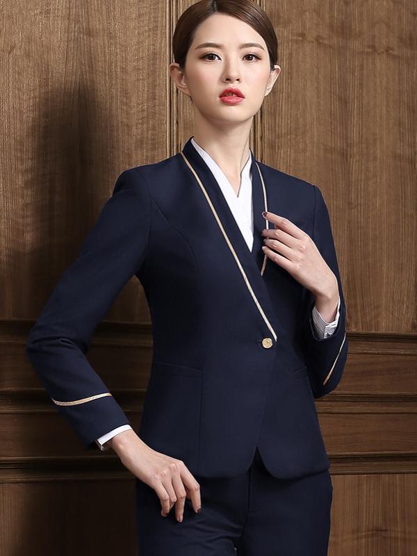 蓝色空姐制服